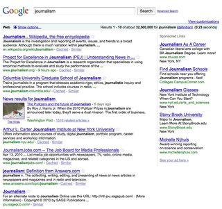 Journalism google